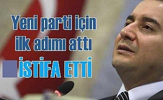 Ali Babacan yeni parti için ilk adımı attı, AK Parti'den istifa etti
