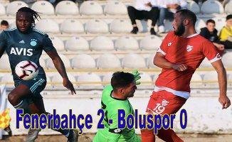 Hazırlık maçını Fenerbahçe 2-0 kazandı