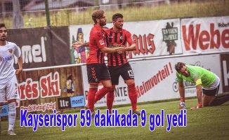 Kayserispor 59 dakikada 9 gol yedi...Hakem maçı 60. dakika daerken bitirdi.