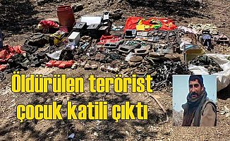 Öldürülen PKK'lı terörist çocuk katili çıktı