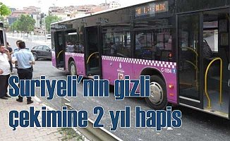 Suriyeli otobüste gizli çekim yaparken yakalandı