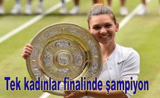 Tek kadınlar finalinde şampiyon Simona Halep oldu