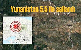 Yunanistan'da deprem, komşu 5.5 ile sarsıldı