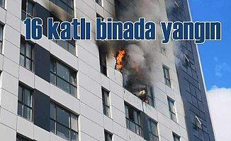 16 katlı binada yangın | Hızla tahliye edildi