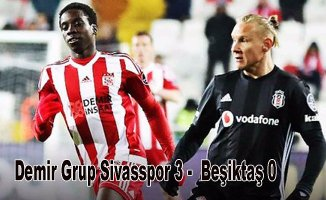 Beşiktaş, Sivasspor'a farklı yenildi