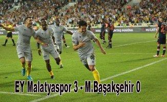 EY Malatyaspor, M.Başakşehir'e gol yağdırdı
