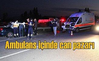 Hasta taşıyan ambulans kaza yaptı, 2 ölü var