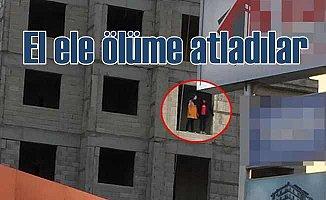 İki kız çocuğu el ele inşaattan ölüme atladı