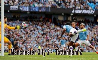 Manchester City evinde Tottenham ile evinde 2-2 berabere kaldı