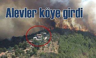 Muğla'da orman yangını alevler köyü sardı