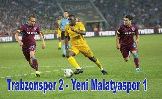 Trabzonspor 3 puanı 2 golle aldı