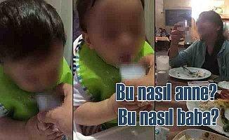2.5 yaşındaki bebeğe rakı içiren anne baba gözaltında