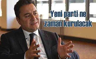 Ali Babacan yeni partinin ne zaman kurulacağını açıkladı