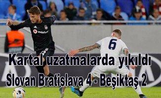 Beşiktaş uzatmalarda yediği 2 golle yıkıldı