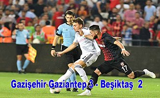 Beşiktaş Gaziantep'te çöktü
