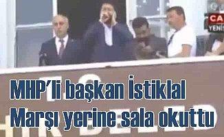Bursa'da yeni bir skandal | İstiklâl Marşı yerine Sal'a