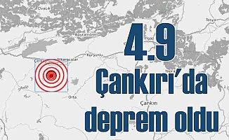 Çankırı Çerkeş'de deprem, Çankırı 4.9 ile sallandı