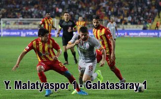Galatasaray, Malatya deplasmanında son dakikada yıkıldı