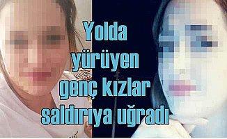 Genç kızlara kar maskeli kişiler silahla saldırdı