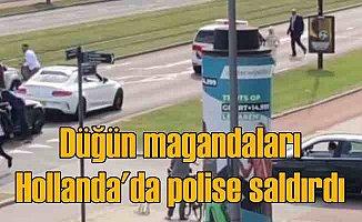 Hollanda'da kornacı Türkler, polise saldırdı