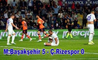 M.Başakşehir, Rizespor'u farklı yendi