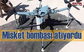 Suriye ordusu, misket bombası atan İHA düşürdü
