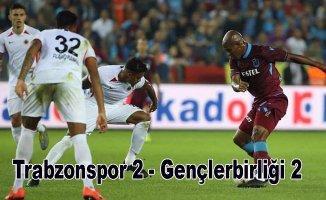 Trabzonspor evinde Gençlerbirliği ile berabere kaldı