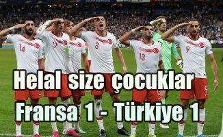 A Milli Takımımız Fransa'dan lider döndü, Fransa 1-Türkiye 1