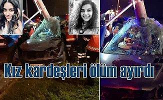 Adapazarı'nda feci kaza, kız kardeşleri ölüm ayırdı