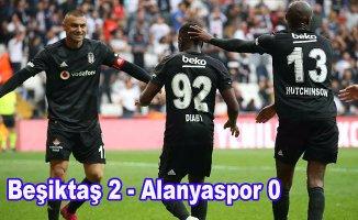 Beşiktaş, Alanyaspor'un yenimezlik serisine son verdi, Beşiktaş 2-Alanyaspor 0