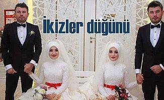 Damatlar ikiz, gelinler ikiz tek düğünde evlendi