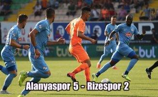 Lider Alanyaspor, Rizespor'u farklı yendi