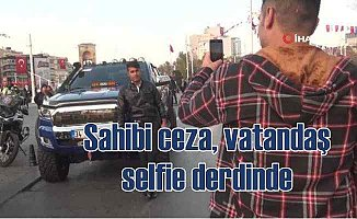Sahte çakarlı lüks pikaba Taksim'de ceza yağdı