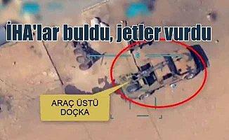 Terör örgütü silahlarını İHA'lar buldu, jetlerimiz vurdu