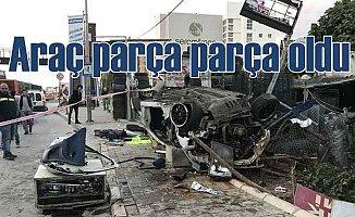 Çiğli'de kaza | Aşırı hız can aldı, 2 ölü 1 yaralı var