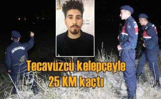 Tecavüz zanlısı elleri kelepçeli 25 KM kaçtı