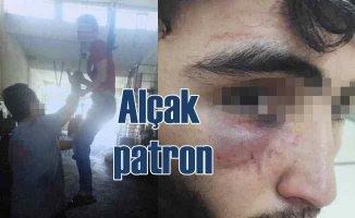 15 yaşında çırağına palangayla işkence yapan patrona dava