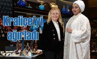 Demet Sabancı, Nijerya Kraliçesi Zaynab Otiti Obanor'u ağırladı