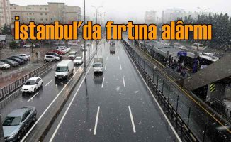 İstanbul için şiddetli fırtına uyarısı, AKOM nöbette