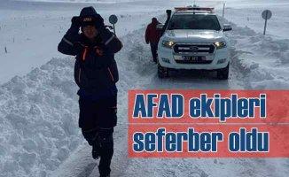 Kar yolları kapadı, yaylada kaybolan çiftçi için AFAD seferber oldu