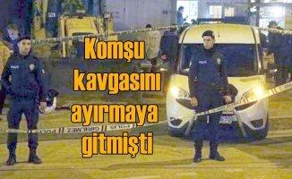 Kavgayı ayırmaya giden polis memuru kendi silahıyla vuruldu