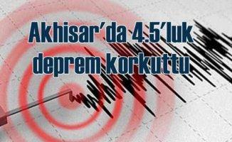 Akhisar'da deprem, Ege Bölgesi 4.5 ile sallandı