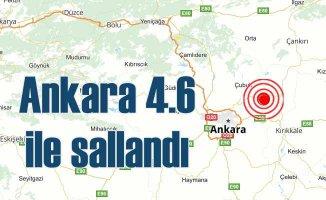 Ankara'da deprem oldu, Ankara 4.6 ile sallandı