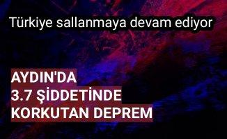 Aydın'da 3.7 büyüklüğünde deprem