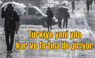 Bugün hava nasıl olacak, Türkiye yeni yılda kar ve fırtına ile giriyor