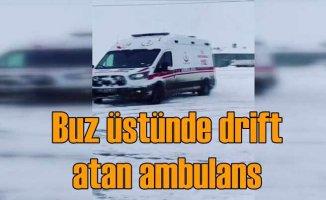 Buz üstünde drift yapan ambulansa soruşturma