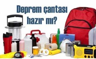 Deprem çantasının içinde neler olmalı?