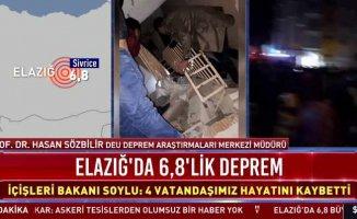 Elazığ'da deprem, 6.8 Doğu Anadolu Bölgesini salladı, 18 can kaybı var