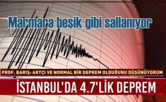 İstanbul beşik gibi sallanıyor, 4.8 Marmara'yı korkuttu