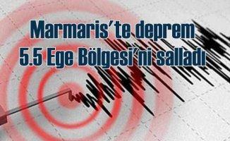 Marmaris'te deprem, Ege 5.5 ile sallandı